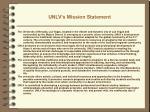 unlv s mission statement