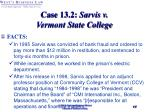 case 13 2 sarvis v vermont state college