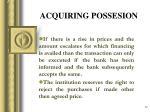 acquiring possesion1