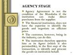 agency stage