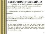 execution of murabaha
