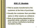 risk in murabaha