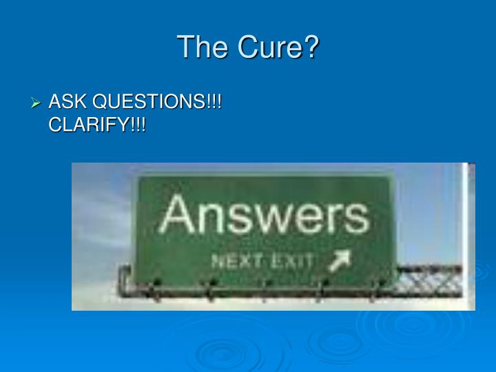 The Cure?