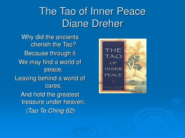 The tao of inner peace diane dreher