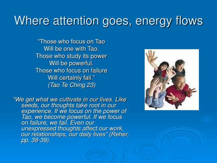 Where attention goes, energy flows