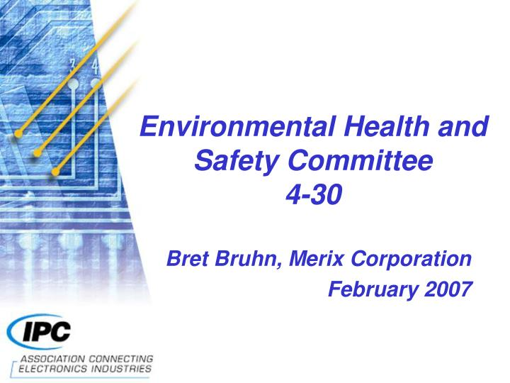 Environmental health and safety committee 4 30