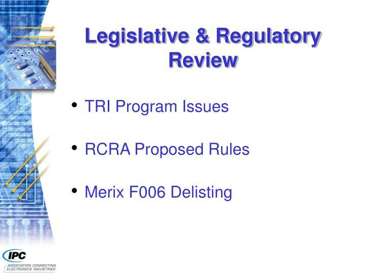 Legislative regulatory review