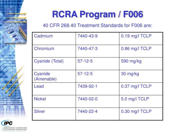 RCRA Program / F006