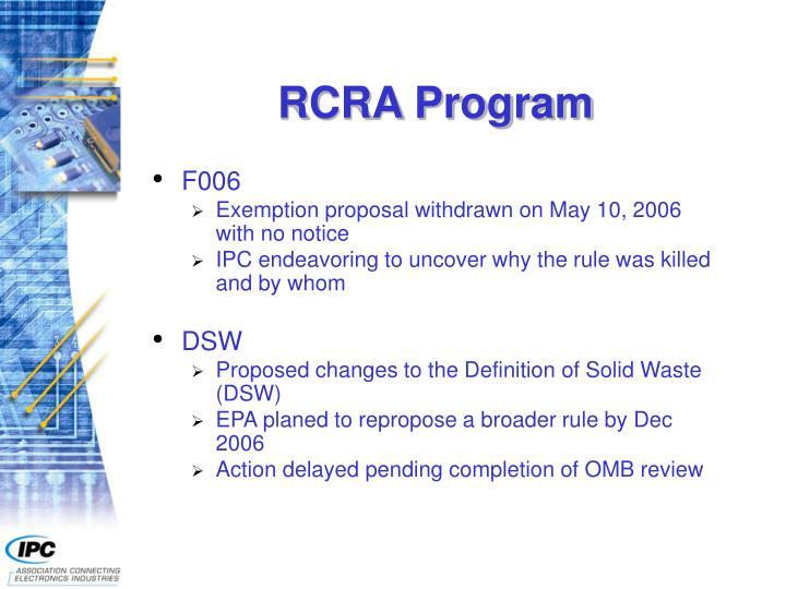 RCRA Program