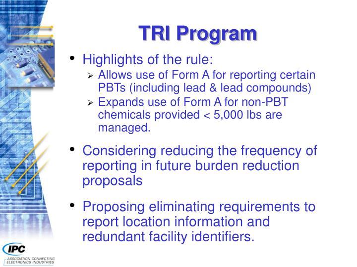 TRI Program