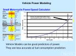 vehicle power modeling