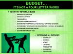 budget it s not a four letter word