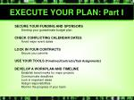 execute your plan part i