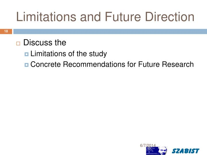 Limitations and Future Direction