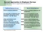current approaches to employee surveys designed to inform organizational decisions