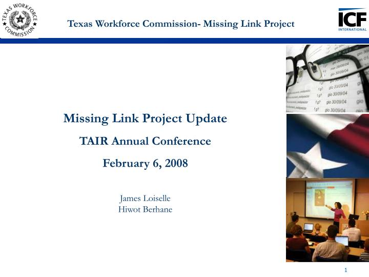 texas workforce commission missing link project