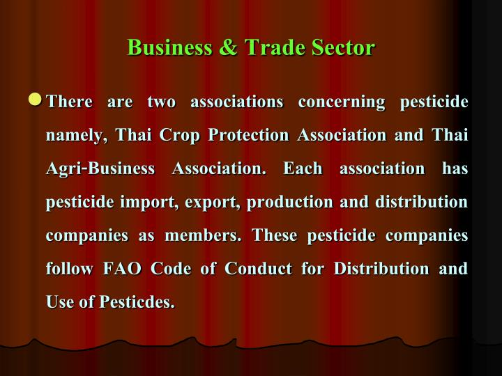 Business & Trade Sector