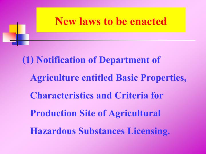 New laws to be enacted