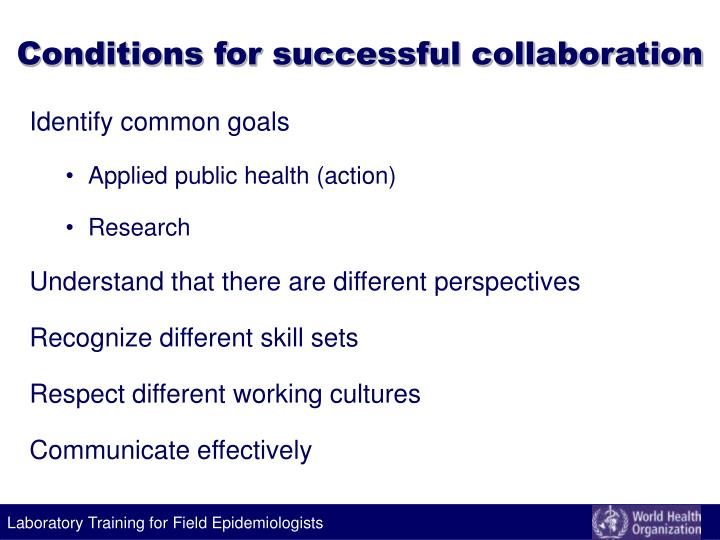 Conditions for successful collaboration