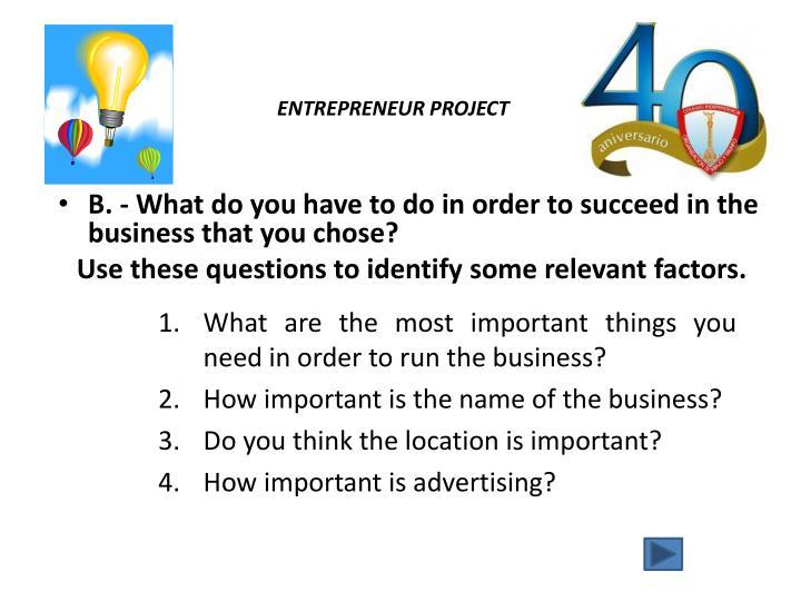 Entrepreneur project2