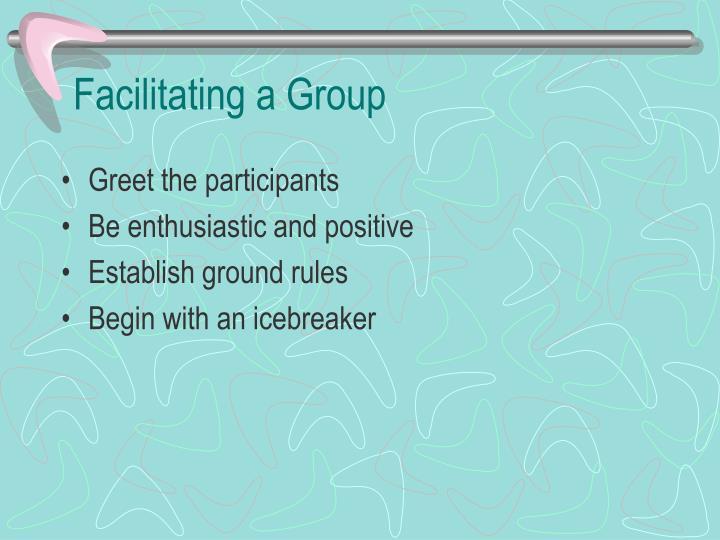 Facilitating a Group