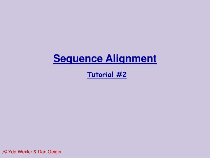 sequence alignment tutorial 2 n.