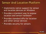 sensor and location platform