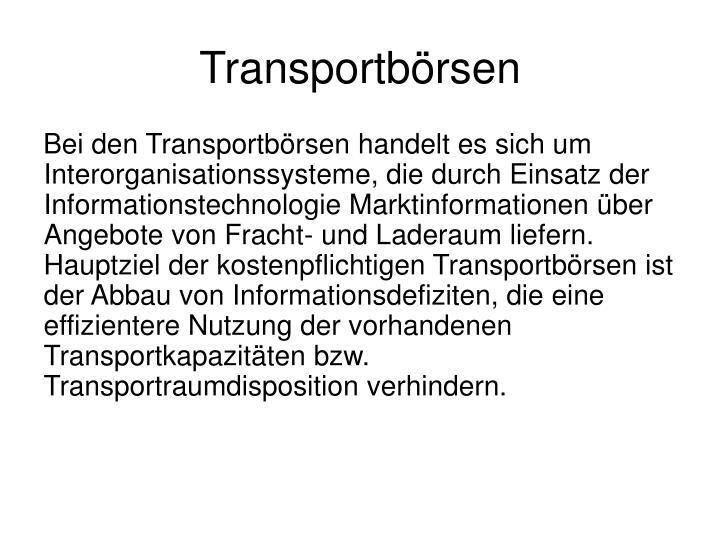 Transportbörsen