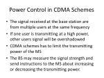 power control in cdma schemes