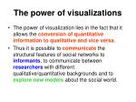 the power of visualizations1