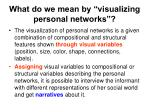 what do we mean by visualizing personal networks