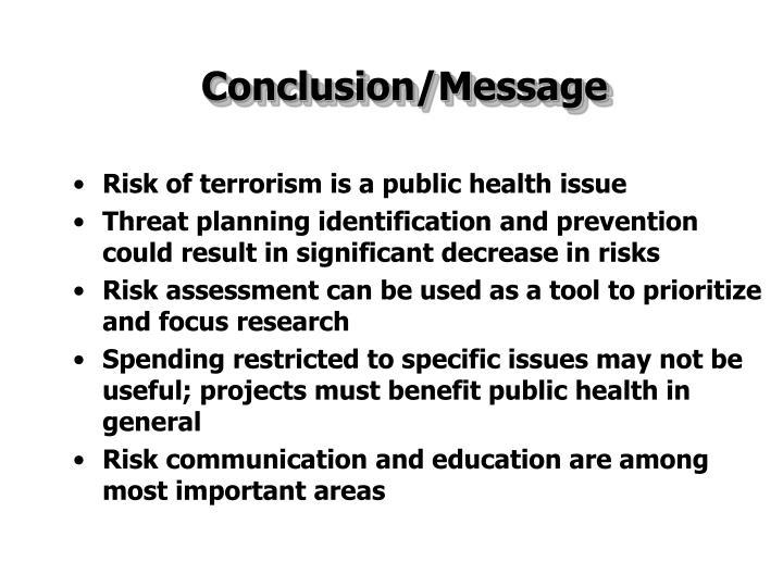 Conclusion/Message