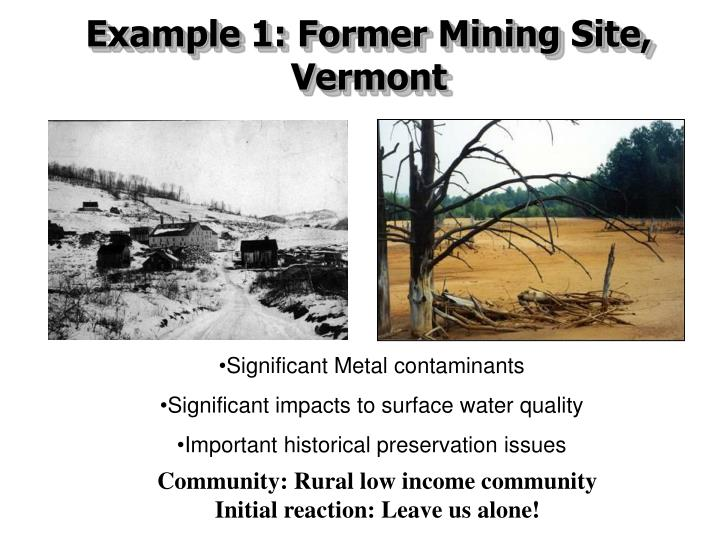 Example 1: Former Mining Site,