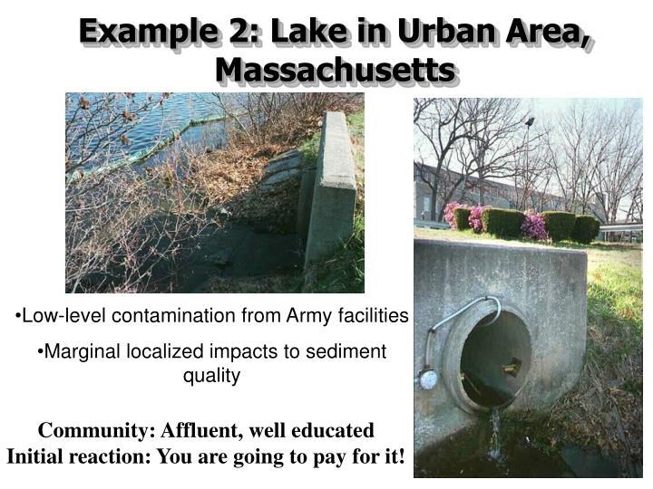 Example 2: Lake in Urban Area, Massachusetts