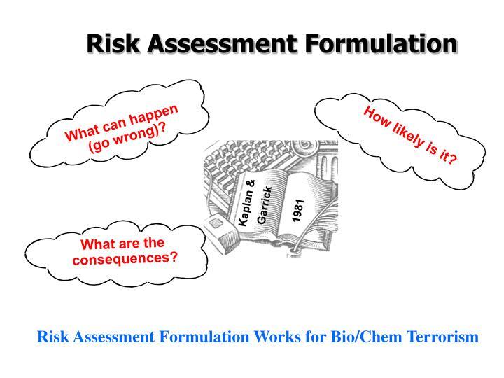 Risk Assessment Formulation
