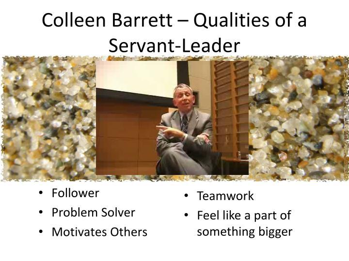 Colleen Barrett – Qualities of a Servant-Leader
