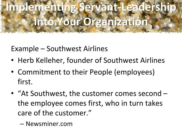 Implementing Servant-Leadership into Your Organization