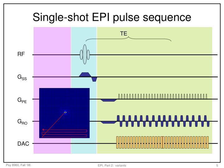 Single-shot EPI pulse sequence