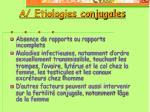 a etiologies conjugales