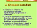 c etiologies masculines