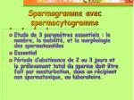 spermogramme avec spermocytogramme