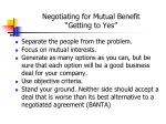 negotiating for mutual benefit getting to yes
