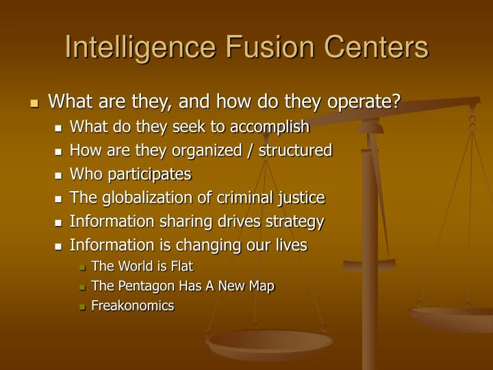 Intelligence Fusion Centers