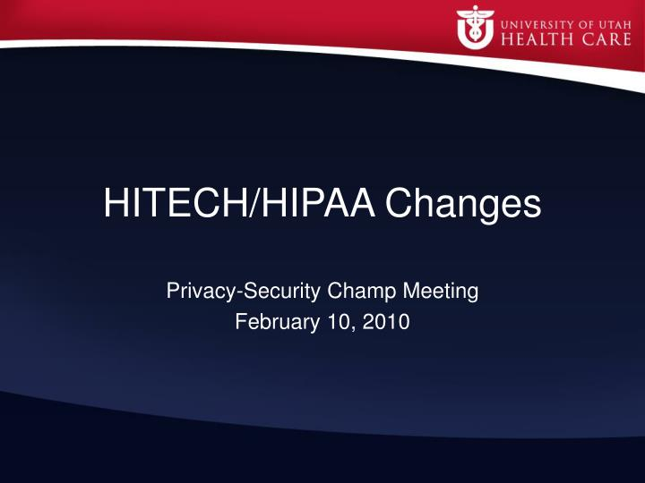 Hitech hipaa changes