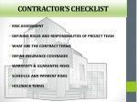 contractor s checklist
