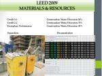 leed 2009 materials resources