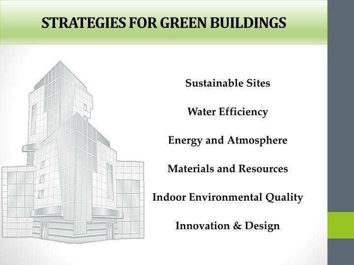 STRATEGIES FOR GREEN BUILDINGS