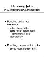 defining jobs by measurement characteristics