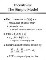 incentives the simple model