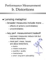 performance measurement b distortions